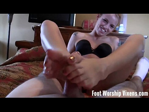 Lingerie foot worship