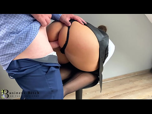 dominant secretary in a short leather skirt seduces the boss starting with a feather - business-bitch