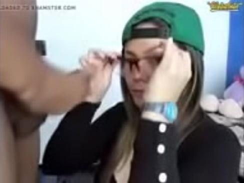 Brunette In Cap Sucking Cock On Webcam At Www Pimpso Com Xvideos Com