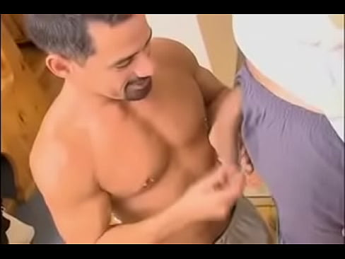 Mexican sucks big juicy cock and gets cum on him
