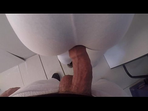 Horny Unknown Milf Let me Touching my Big Dick on her Ass inside Subway in Brazil and she liked!