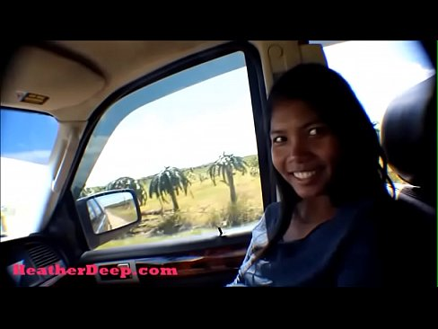Hurricane Irma survivor 8 month pregnant Thai Teen deepthroat throatpie cum swallow in car