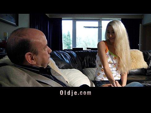 Old schlong fucks sweet blonde teen