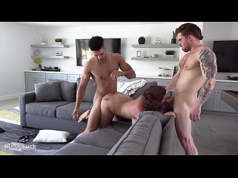 Handsome Guy fucks his Hairy best friend and his latina GF