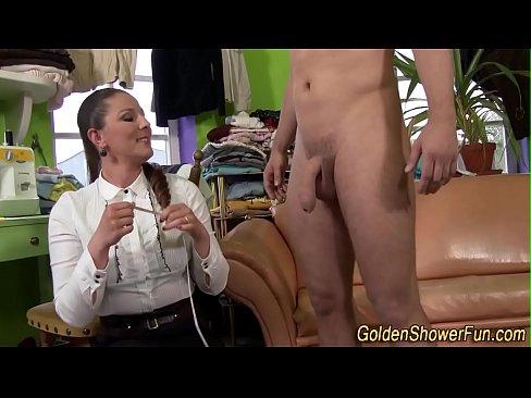 Kinky slut goldenshowered