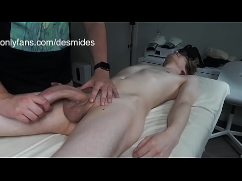 Fucking Twink with Huge Dick during Massage