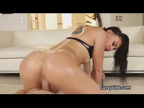 Juicy oiled PAWG beauty pounded hard