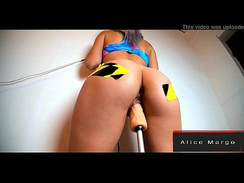 Ultra Speed on Sex Machine! Destroy Her Ass! AliceMargo.com