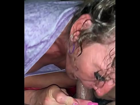 Auntie Sucks Big Black Cock