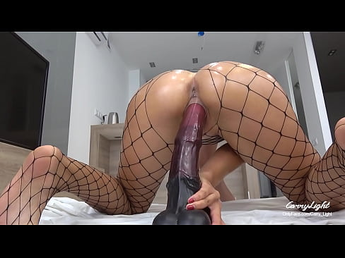 Teen Pounded with Massive Horse Cock - Dripping Creampie - Solo CarryLight