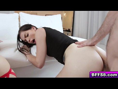 Sexy ninja babes go crazy over a giant dick