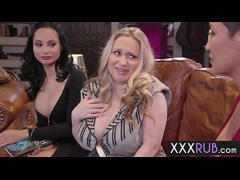 Threesome Big Tits Two Cocks