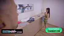 Enthusiastic Friend Helps Petite Cutie Stefany ...