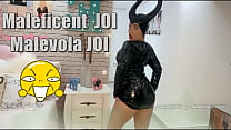 Maleficent cosplay hot big ass brunette giving to you some hot jerk off instructions JOI and giving a POV blowjob, asking you, to cum in her mouth, cum countdown