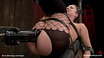 Strapped lesbian pussy toyed and vibed