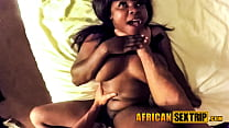 Lucky tourist pounding hot african townie