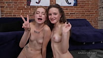 Skinny bitch Berlin penetrates Baby Bamby's ass with her hand! Fisting, 0% pussy, DAP, group NRX145