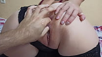 Guy Fingering lady's sweet pussy and asshole