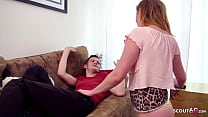 GINGER STEP SISTER PARIS TRICKED BROTHER TO FUC...