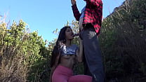 Met this girl on hike and she blew me in public!!!!