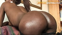Unbelievable thick black ass pounded in paradise