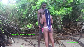 a public fuck at kribi beach in Cameroon between two tourists.  The girl with the big buttocks and the basketball player guy with a big one take pleasure at the beach in the middle of the day in front of the users.  It's something new to consume wit