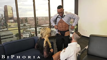 BiPhoria - Big Dick Boss Knows How to Get The Best Out Of His Associates