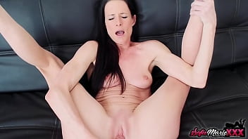 MILF Sofie Marie Pussy Plays With Dildo While Fantasizing