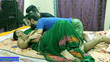 Indian hot Milf aunty fucking with two brother !! Nokrani se love with dirty audio