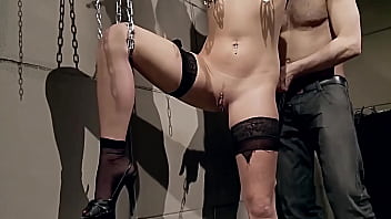 Outstanding beauty and amazing slave girl trained to be filthy submissive whore. Part 3. Fucked hard and humiliated.