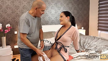 DADDY4K. Hungry belle penetrated with old dick belonging to BFs daddy 10 min
