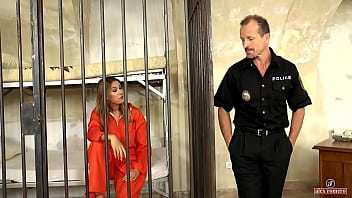 Big ass russian inmate fucked hard in jail