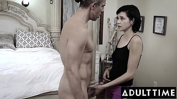 ADULT TIME - Cutie Cadey Mercury Loses Her Virginity To New Babysitting Boss