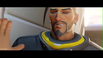 Atlantic Tracer From The Game Overwatch Receives a Facial Cumshot (KreiSake) thumbnail