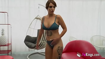 She's the one directing the castings now. Busty Myss Alessandra teaches a lesson to a dude at his first scene!