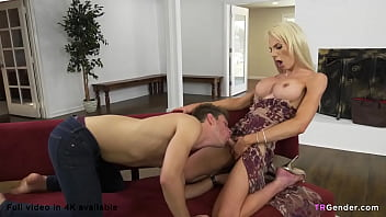 Unexpected visitor Natalee Skye shows off her dick