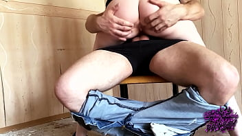 Slut itching to get fucked in an abandoned house AnnyCandy Painboy