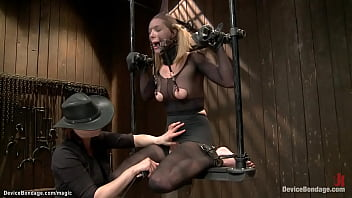 Shackled Babe In Metal Device Fucked