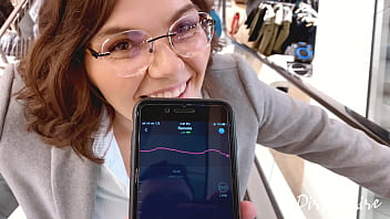 Blowjob in the chaning room - shopping in the mall goes wild - She swallows my cum in public 8 min