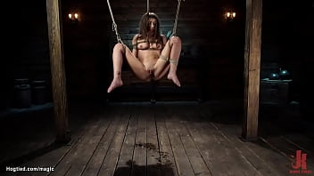 Tied petite slut in extreme positions