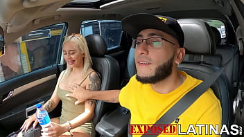 Patricia Acevedo sucks a dick in teh car and then gets fucked by huge dick