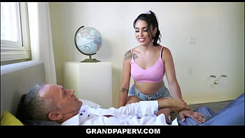 Latina Granddaughter Orgasms Repeatedly For Rich White Grandpa - Vanessa Sky, Marcus London