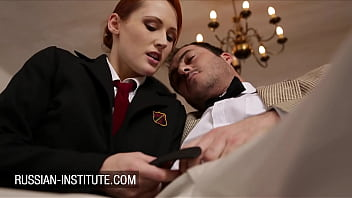 Sexy redhead Emy Russo surprise for the science teacher