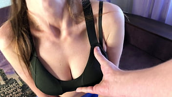 Caught Mom with Big Tits on Masturbation, Fucked her and Cum in her Panties - Russian Amateur with CONVERSATION