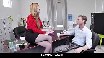 XVIDEOS Sexy Ginger Milf Seduces Her Hot and Young Employee - Lauren Phillips free