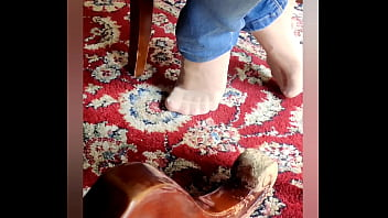 my girlfriend is doing some candid feetplay with different nylons