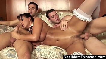 RealMomExposed - Rich Guy Fucks His Sexy MILF Valet Mandy Bright