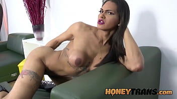 """Big Dicked Latina Trans Bruna Dior Strokes And Cums All Over <span class=""""duration"""">11 min</span>"""