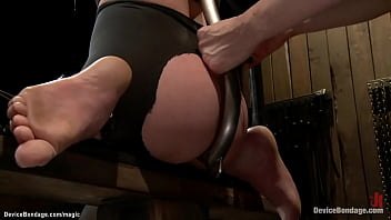 Strapped Lesbian Pussy Vibrated