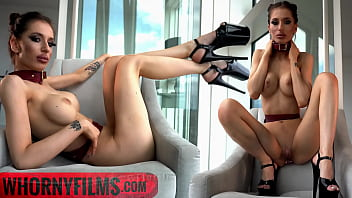 Skinny Submissive Slut Evilyn Jezebel Teasing and Sucking Big Cock in Hot Kinky Outfit - WHORNYFILMS.COM 6分钟